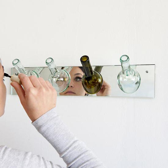 玻璃瓶衣帽架